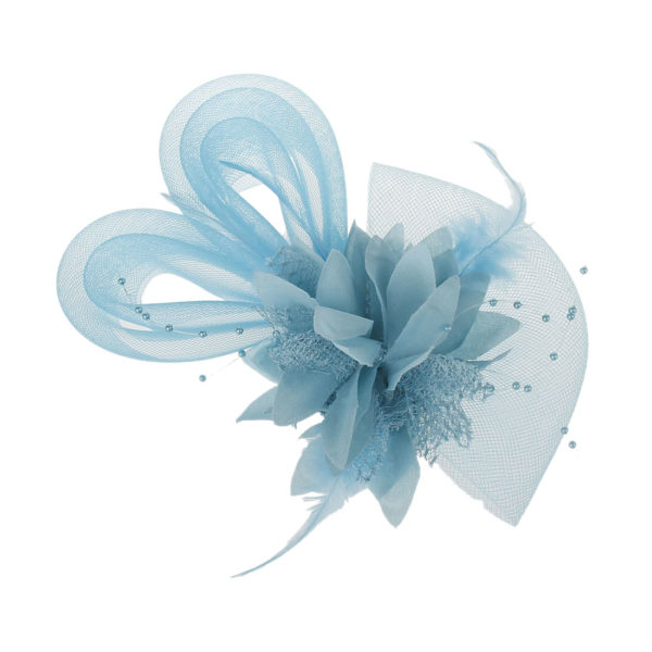 Burlesque Tanz Fascinator Lize in helblau z.B. für Standardtanz
